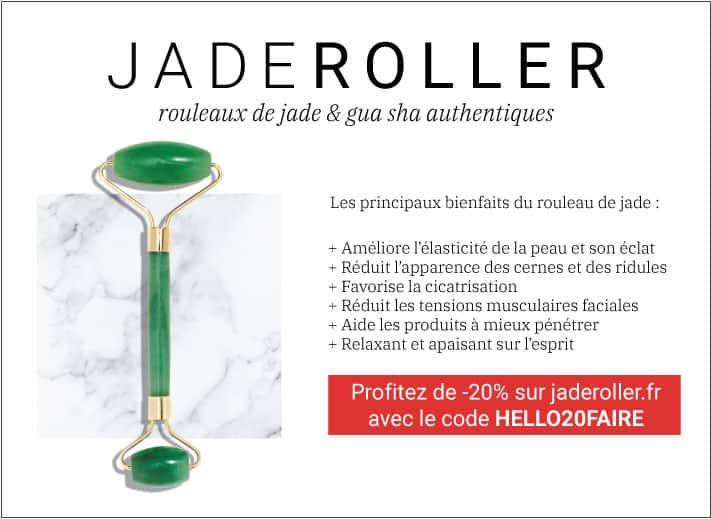 les avantages de se masser le visage avec un jade roller