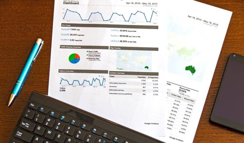graphiques de l'analyse web géo-ciblée